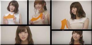 【sizebook(サイズブック)CM】スマホの箱に収まった5人の美少女は誰?