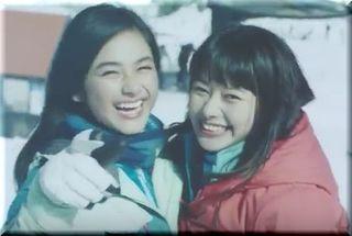 【JRskiskiCM2016】赤・青のスキーウェア、2人の美少女は誰?